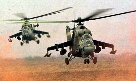 helicopter gunships