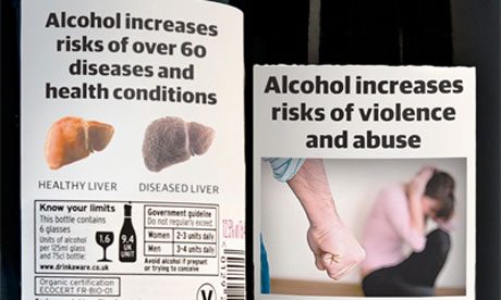 The UK government has considered graphic alcohol warning labels to combat
