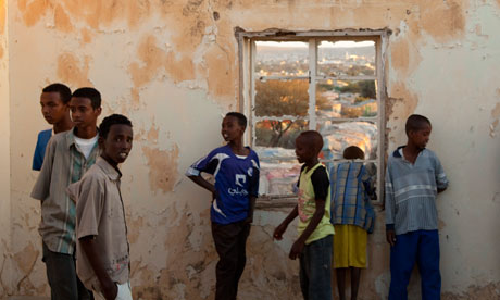 Young people in a Refugee camp in Hargeisa in 2009
