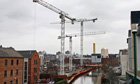 Cranes at a Nottingham building site
