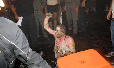Moshe Silman sets himself on fire during march for social justice in Tel Aviv, Israel