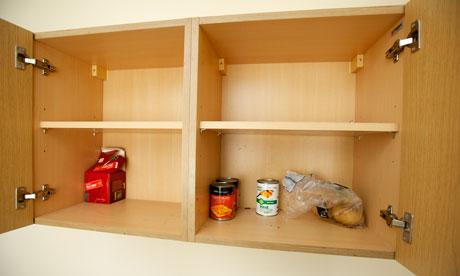 Joseph Anderson's bare cupboards