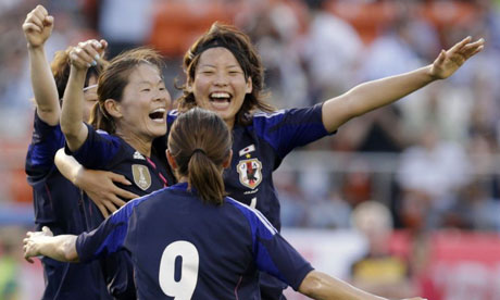 Japan's female athletes fly economy while men's team sit in business Japan's female national football team Nadeshiko Japan placed in economy seats on flight to France sparking gender debate