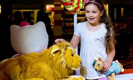 Phoebe McFadden in the new toy department at Harrods, London.