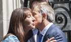 Samantha Cameron and Tony Blair kiss