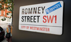A Mitt Romney campaign sticker