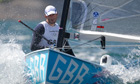 Ben Ainslie on a Finn dinghy class