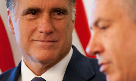 Mitt Romney meets Binyamin Netanyahu in Jerusalem
