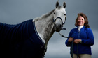 Jamaican three-day eventer Samantha Albert with Carraig Dubh at the Bramham horse trials