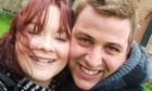 Kerry Bamford with fiance Luke