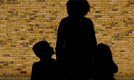 Family courts: woman with children