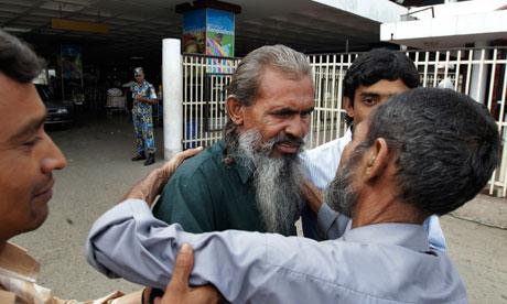 Missing Bangladeshi Moslemuddin Sarkar is hugged by his brother