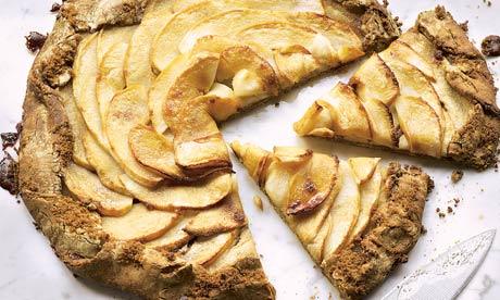Dan Lepard's spiced treacle apple tart