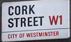 Cork Street sign London England