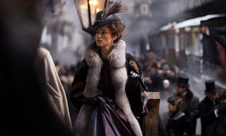 Keira Knightley as Anna Karenina.