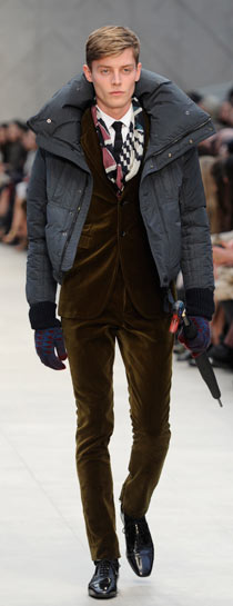 Burberry's autumn/winter 2012 catwalk show.