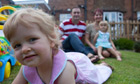 Lilly MacGlashan, two, who is having cancer treatment