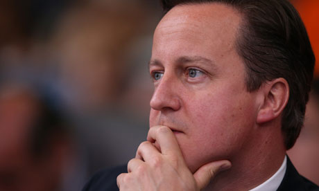 David Cameron looking thoughtful