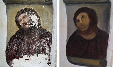 Ecco Homo painting ruin