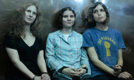 Pussy Riot members in court