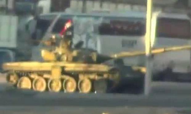 Syria Damascus tank