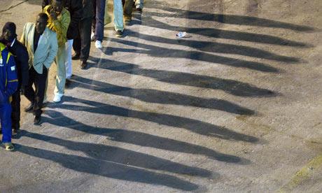 Migrants heading for Benghazi