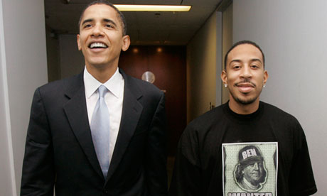 Barack Obama and Ludacris in 2006