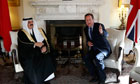 David Cameron with the King of Bahrain
