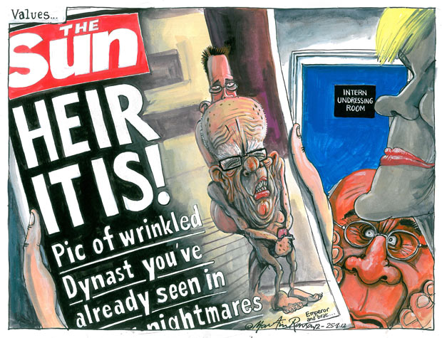 Heir it is! Martin Rowson