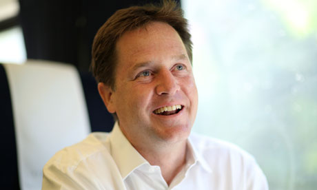 Nick Clegg … just jealous of the rich?