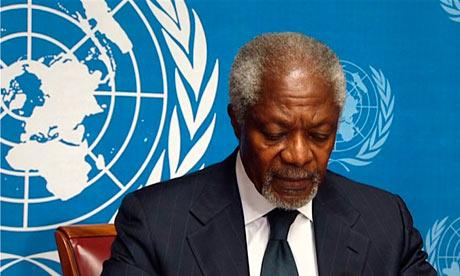 Kofi Annan resigns