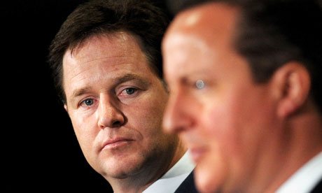 Nick Clegg and David Camerom
