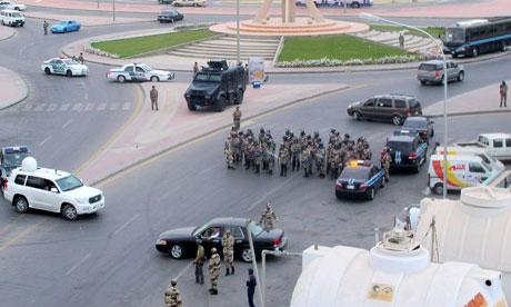 Saudi riot police in Qatif