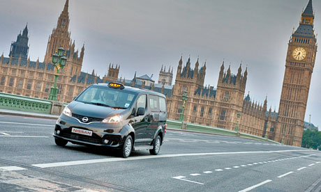 Nissan NV200 taxi in London