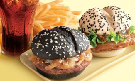 McDonald's black and white buns for the Chinese market