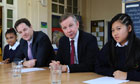 Nick Clegg and Michael Gove Durand Academy Primary School in Stockwell