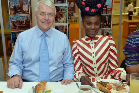 John Major with Shingai Shoniwa