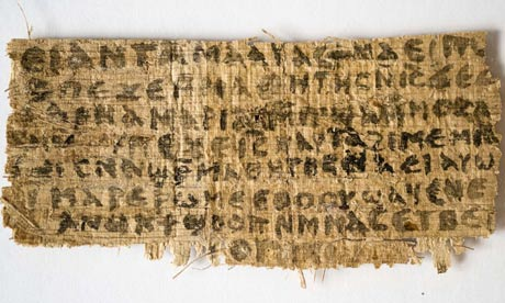 Script of papyrus from fourth century