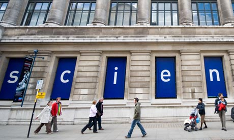 People outside the Science Museum