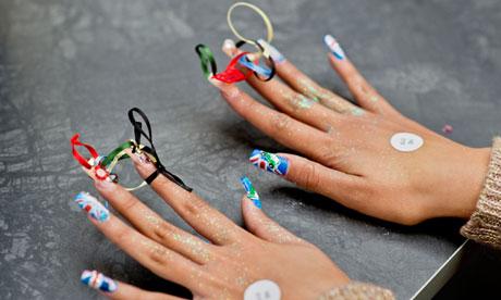 A model's nails, 2012 Nailympics