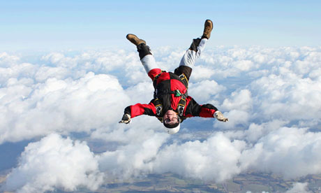 Skydiving is a popular ambition for people who know their lives are coming to an end.