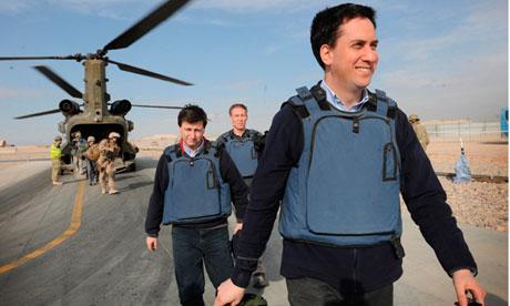 Jim Murphy, Douglas Alexnader and Ed Miliband