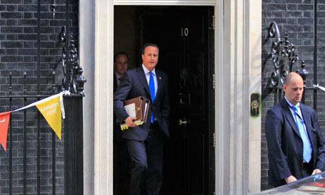 David Cameron at No 10