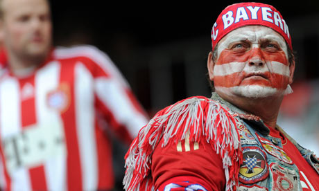 A Bayern Munich supporter at the Champions League final against Chelsea in May 2012.