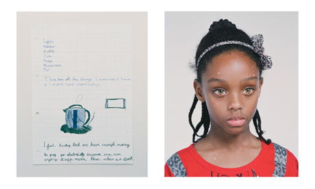Amira, 8, one of children who took part in What Poverty Means