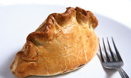 A traditional British Cornish pasty 