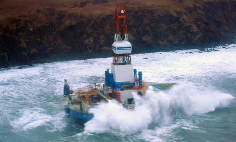 The Kulluk oil drilling ship