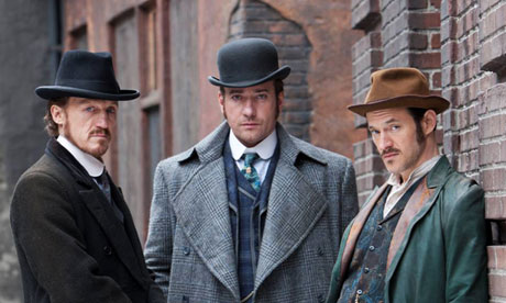 Jerome Flynn, Matthew Macfadyen and Adam Rothenberg in Ripper Street.