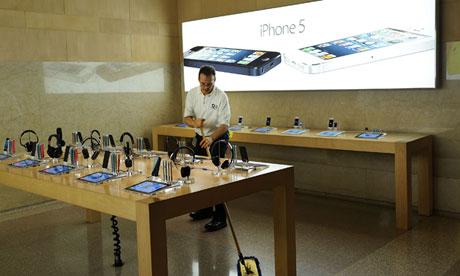 Apple profits fall