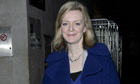MP Elizabeth Truss Seen At BBC London Studios